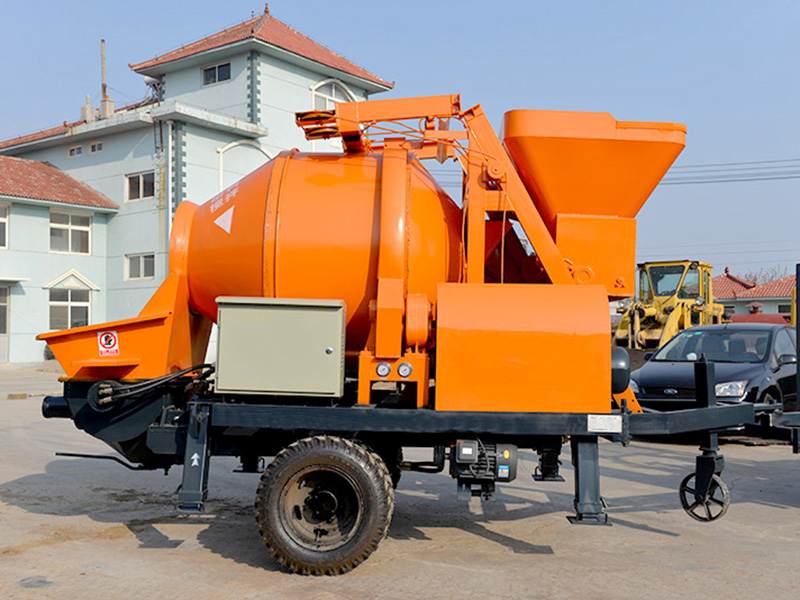 small concrete mixer and pump