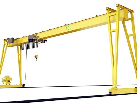 10 ton gantry crane structure and electric hoist
