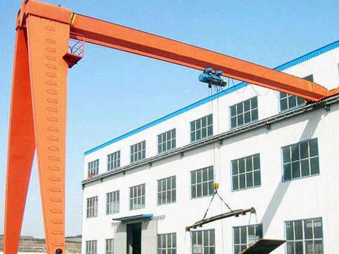single beam 10 ton semi gantry crane