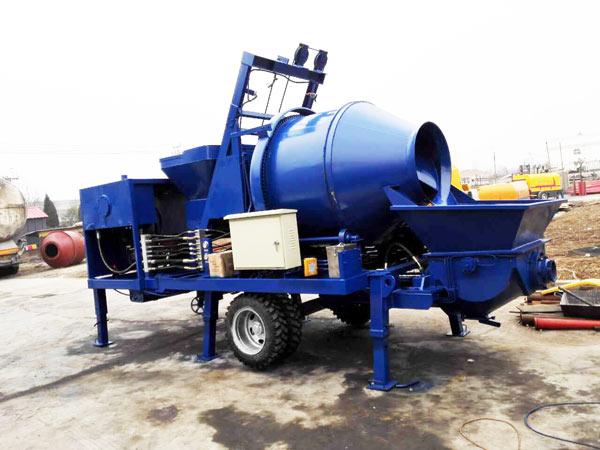 small concrete mixer pump